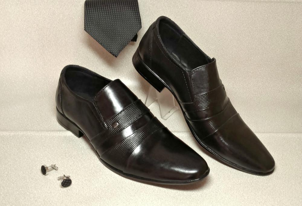Классические туфли из натур кожи № 318 фото №2