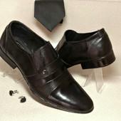 Классические туфли из натур кожи № 318