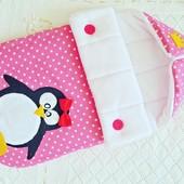 конверт для выписки Подушка пазлы бортики постельное белье