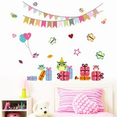 """Интерьерная наклейка """"Декор ко Дню рождения """". Виниловые наклейки на стену."""