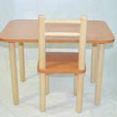 Детский комплект стол 40*60, высота 40 см и 1 стул
