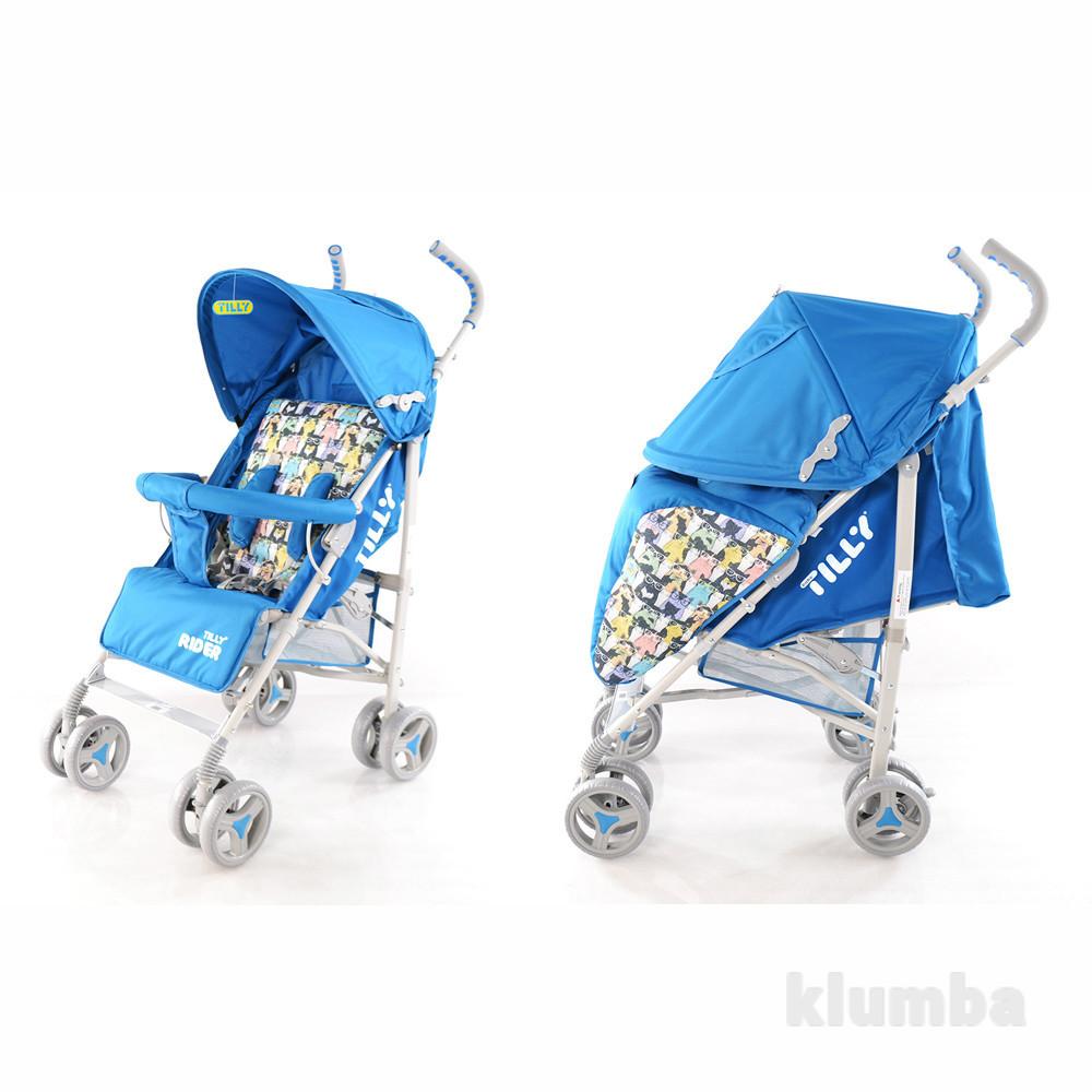 Прогулочная коляска-трость rider bt-sb-0002 blue фото №1