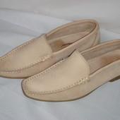 Туфли-мокасины р.37 кожаные женские фирменные Hush Puppies
