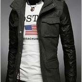 Мужская куртка из кашемира,М, L, ХL.Цвет антрацит и чёрный (2з