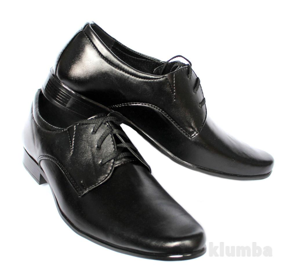 Мужские классические туфли на шнуровку (Б-052) фото №1