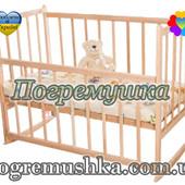 Деревянная кроватка для новорожденных КФ-2