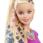Кукла Барби Barbie набор блестящие дизайнеркие волосы
