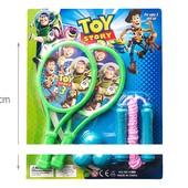 Ракетки, мячики, скакалка Toy Story под слюдой