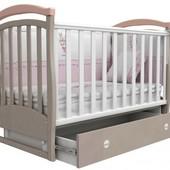Детская кроватка Верес Соня ЛД6 маятник капучино-розовый 06.12