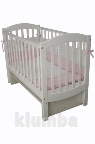 Детская кроватка Верес Соня ЛД10 маятник без ящика белая 10.1.06 фото №1