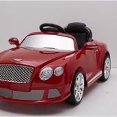Электромобиль детский, Bambi 520 R-3 Bentley радиоуправляемый, цвет красный