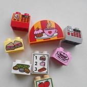 Кубики с рисунками и цифрами Lego duplo