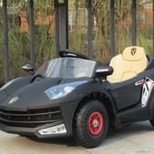 Детский электромобиль C1609 Ferrarri с надувными EVA колесами  черный