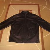 кожаный пиджак -курточка . весна - осень . XXL