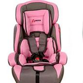Надежное автокресло, 9-36 кг,  Bambi M 2793, цвет серо-розовое