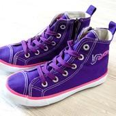 #0084. Новые высокие кроссовки на шнурках для девочки. Pepperts. Размер 31. Стелька 20 см. Легкие.