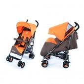 Коляска прогулочная Carello Vento CRL-1402 оранжевый с коричневым