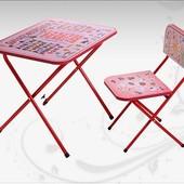 Детская парта со стульчиком, Ommi Optima, цвет Красный