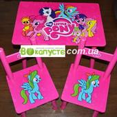 Столик детский, Bambi M 1522, с двумя стульчиками, My Little Pony