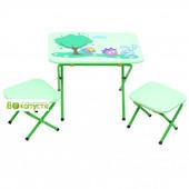 Стол с 2-мя стульчиками Ommi Смешарик, цвет Зеленый