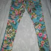Недорого! Женские фирменные яркие штанишки, р.L, Англия, новые