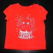 футболка monecar 6-9 мес  состояние новой