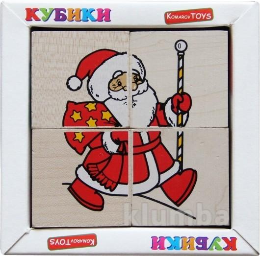 Кубики «сложи рисунок: новый год», komarovtoys артикул: т 612 фото №1