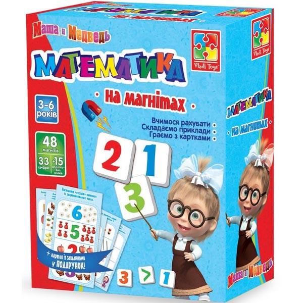 Математика на магнитах с машей русск и укр vladi toys влади тойс vt3305-04/05 фото №1