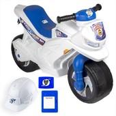 Полиция белый мотоцикл Орион 501 каска протокол бейдж беговел полицейский