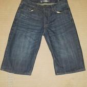 Современные джинсовые удлиненные фирменные шорты Logg H&M Швеция. 30 р