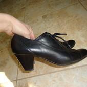 шкіряні ботильйони черевички кожаные ботинки туфли
