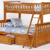 Двухъярусная кровать Жасмин Ольха 1400*2000 + ящики
