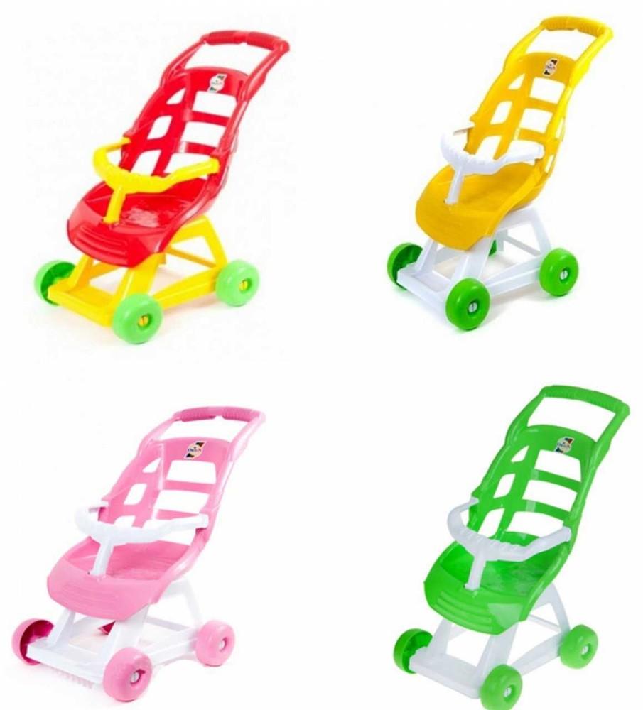 Пластиковая кукольная коляска для пупса орион 147 колясочка для куклы фото №1