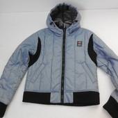 Charro. Укороченная куртка стального цвета с трикотажными вставками.