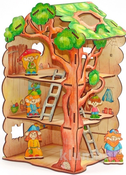 Конструктор «дом-дерево для лешиков», woody артикул: в00730 фото №1