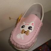 Демисезонные мокасины 22-27 р. Little Deer (B&G) на девочку (макасины, туфли, туфлі, мокасіни)