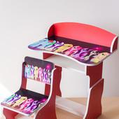 Детская парта стол со стульчиком Little Pony регулируемая