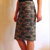 Шикарная юбка-карандаш с кружевным принтом для девушки. Atmosphere. Размер 10/38 (M)