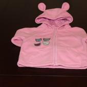 Розовая худи для девочки от Mothercare на 6 -9мес.