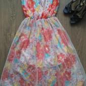 пролет Новое легкое платье,шифон, примерно S -ка