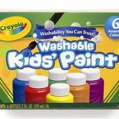 Краски Crayola 6 цветов смываемые