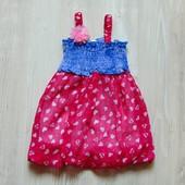 Новое нарядное платье для девочки. Юбка на подкладке. Размер 16 месяцев