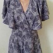 Платье -ромпер с принтом asos