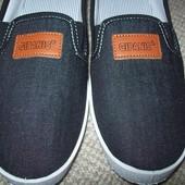 джинсовые слипоны, мокасины 41-42
