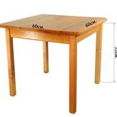 Детский Стол деревянный c квадратной столешницой. F15