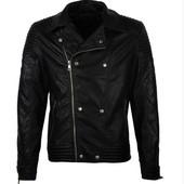 Стильная мужская байкер-куртка GLO-Story (искусственная кожа)