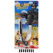 Пиратский набор кинжал, мушкет, повязка на глаз. артикул 555