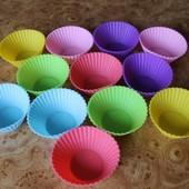Силиконовые формы для выпечки кексов, маффинов, капкейков! 10 штук!