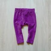 Яркие вельветовые леггинсы для девочки. Ergee. Размер 4-6 месяцев