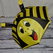 Зонтик зонт трость детский с ушками со свистком разные Пчела Пчелка